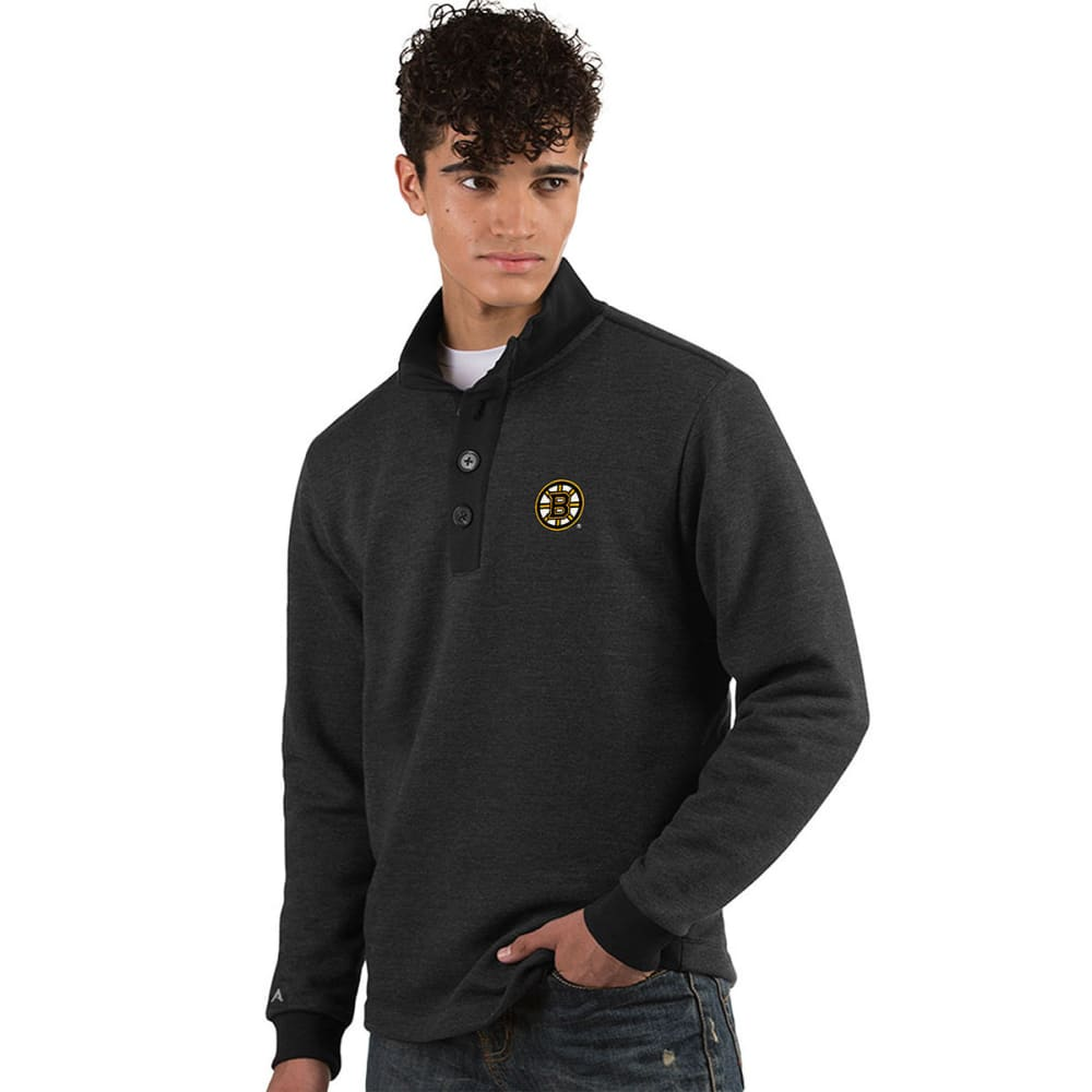 BOSTON BRUINS Men's Pivotal French Terry Long-Sleeve Top - SMOKE