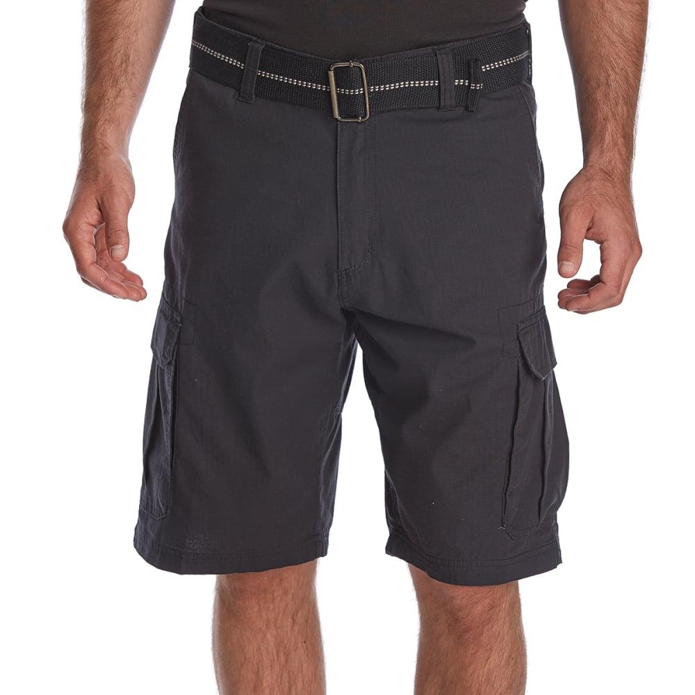 BURNSIDE Guys' Taslon Cargo Shorts - BLACK