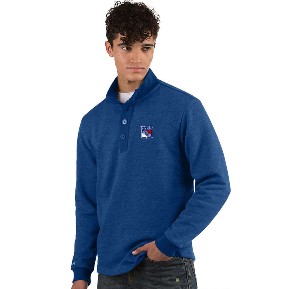 NEW YORK RANGERS Men's Pivotal French Terry Long-Sleeve Top - DARK ROYAL