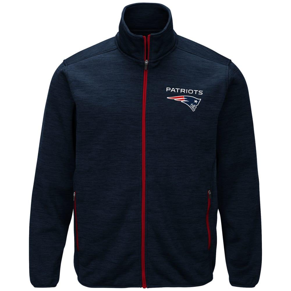 New England Patriots Men's High Jump Space-Dye Jacket - Blue, M