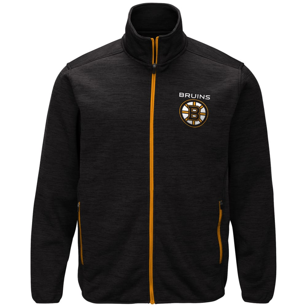 BOSTON BRUINS Men's High Jump Space-Dye Jacket - BLACK