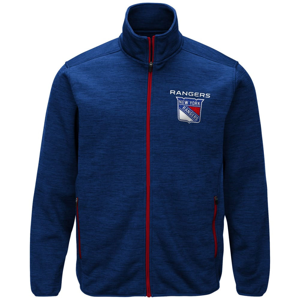 NEW YORK RANGERS Men's High Jump Space-Dye Jacket - ROYAL BLUE