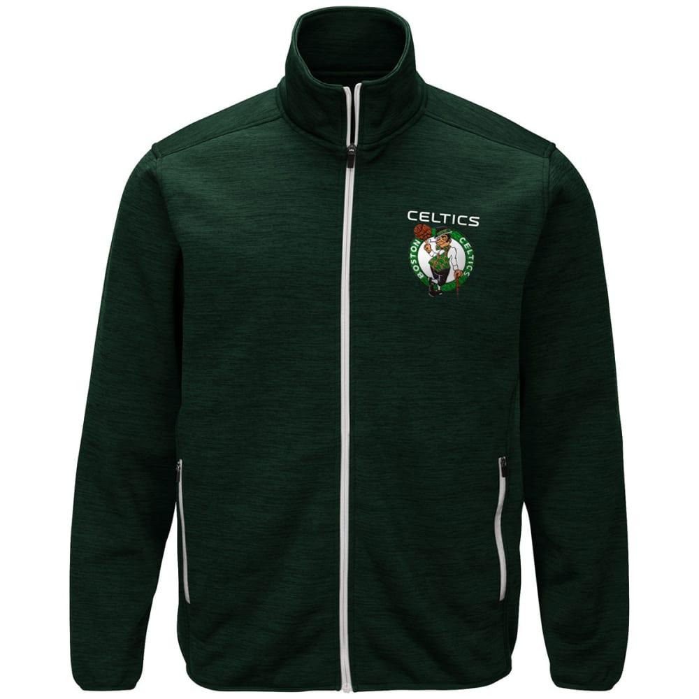 BOSTON CELTICS Men's High Jump Space-Dye Jacket - GREEN