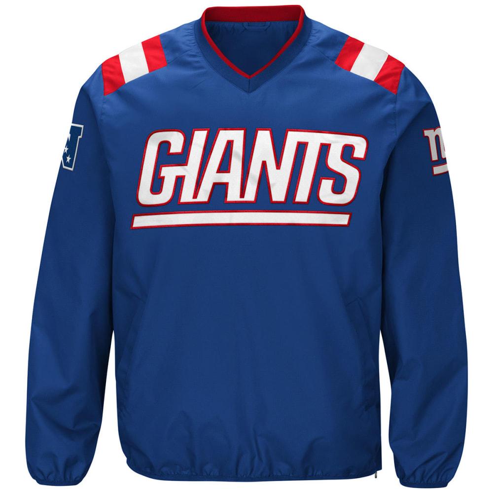 NEW YORK GIANTS Men's Count Back V-Neck Pullover Jacket - ROYAL BLUE