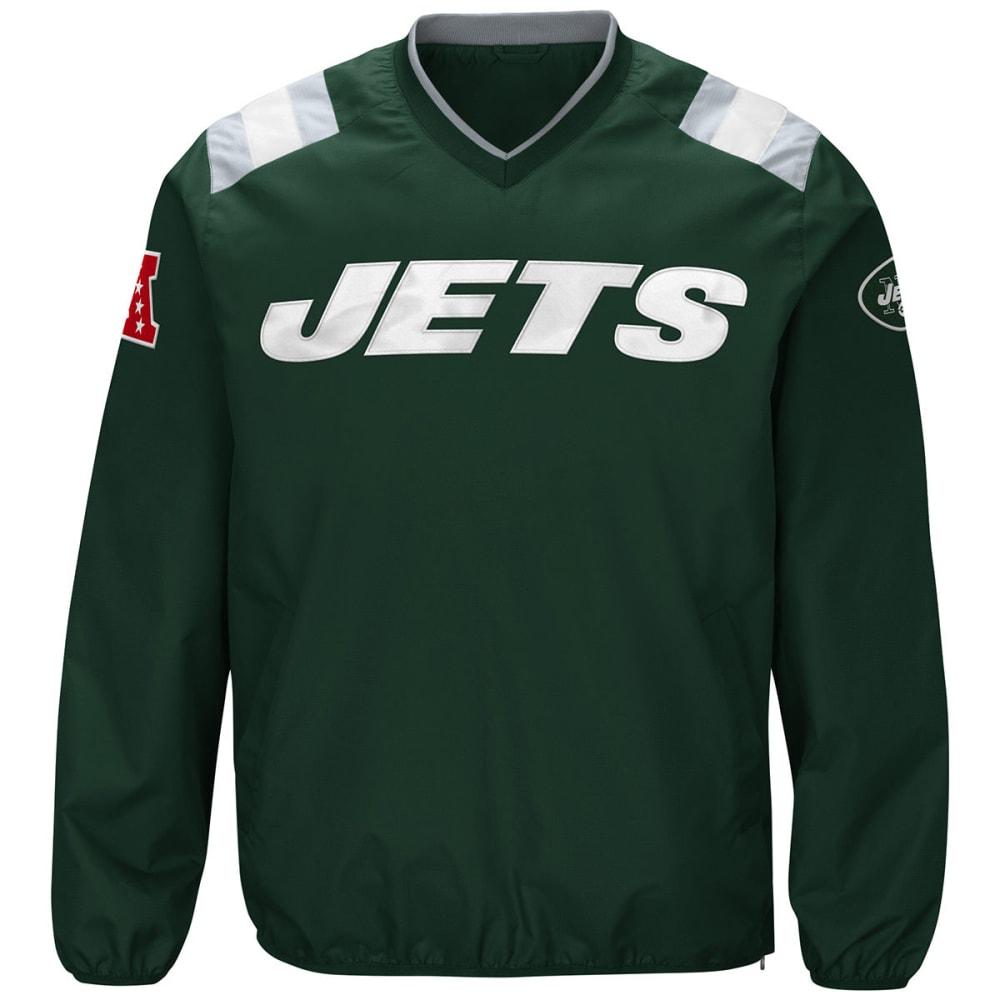 NEW YORK JETS Men's Count Back V-Neck Pullover Jacket - GREEN