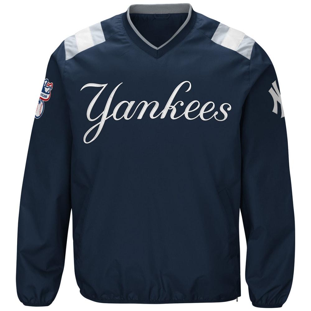NEW YORK YANKEES Men's Count Back V-Neck Pullover Jacket - NAVY