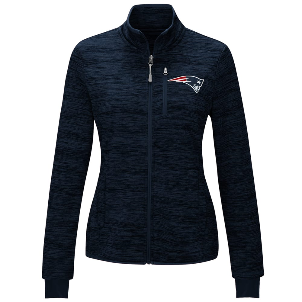 NEW ENGLAND PATRIOTS Women's Slap Shot Space-Dye Fleece Jacket - NAVY