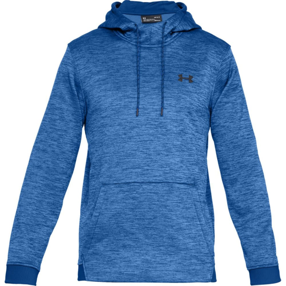 UNDER ARMOUR Men's Armour Fleece Twist Pullover Hoodie - 400-ROYAL/BLK