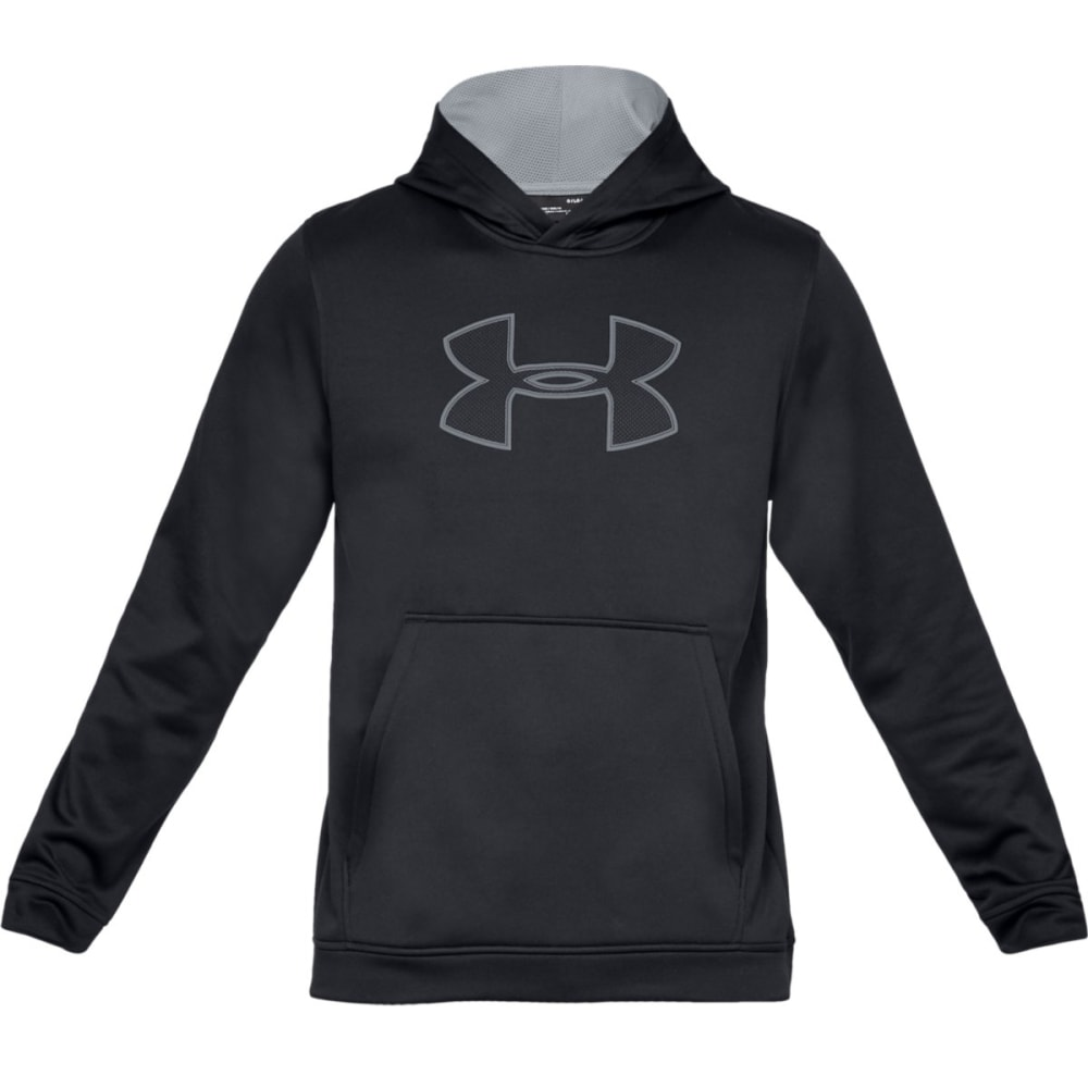 UNDER ARMOUR Men's UA Big Logo Pullover Hoodie - BLACK/STEEL-001