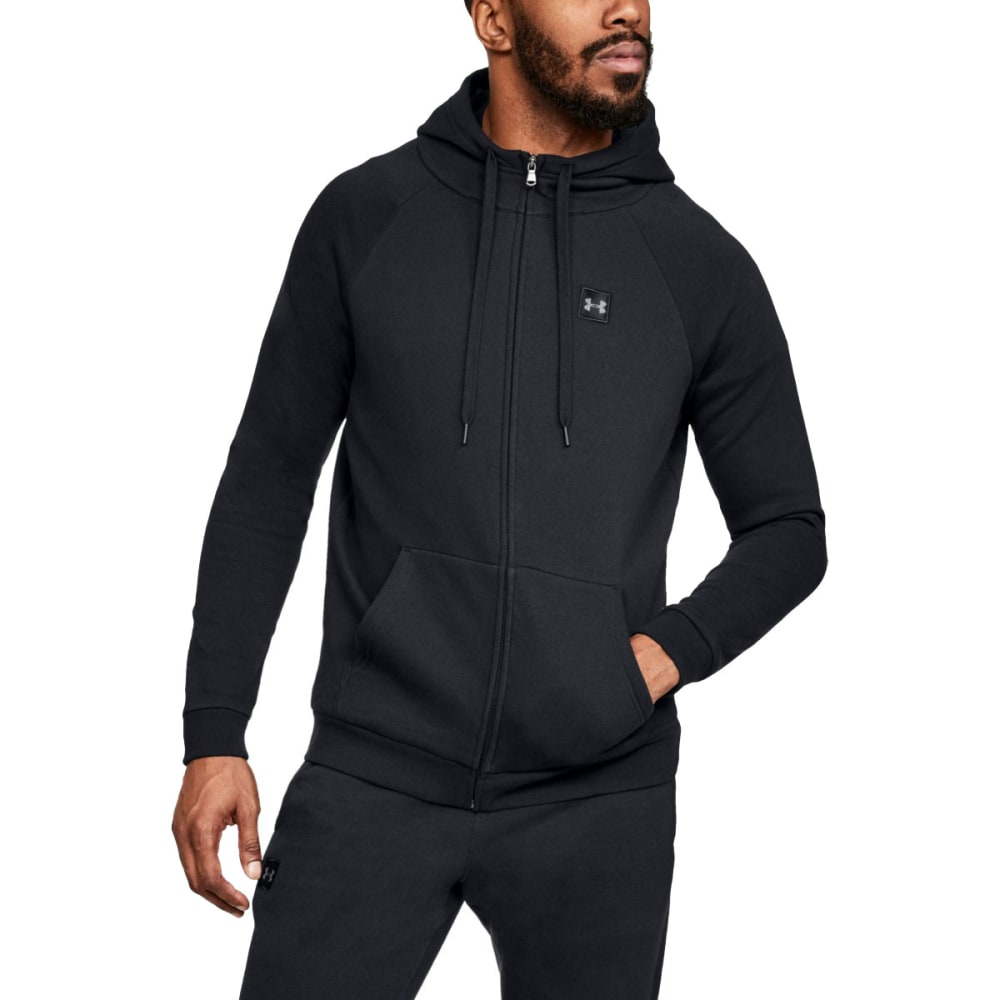 9fcc0b3de UNDER ARMOUR Men's UA Rival Fleece Full-Zip Hoodie - BLACK