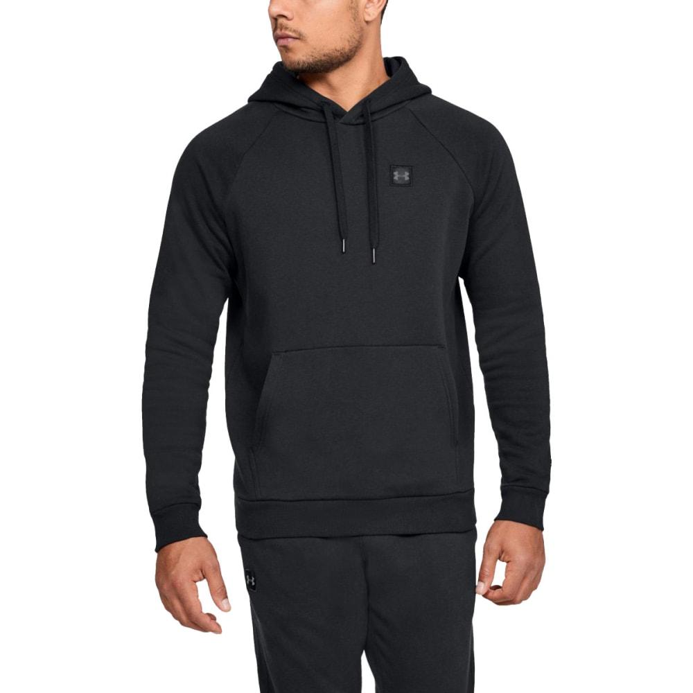 UNDER ARMOUR Men's UA Rival Fleece Pullover Hoodie - BLACK-001