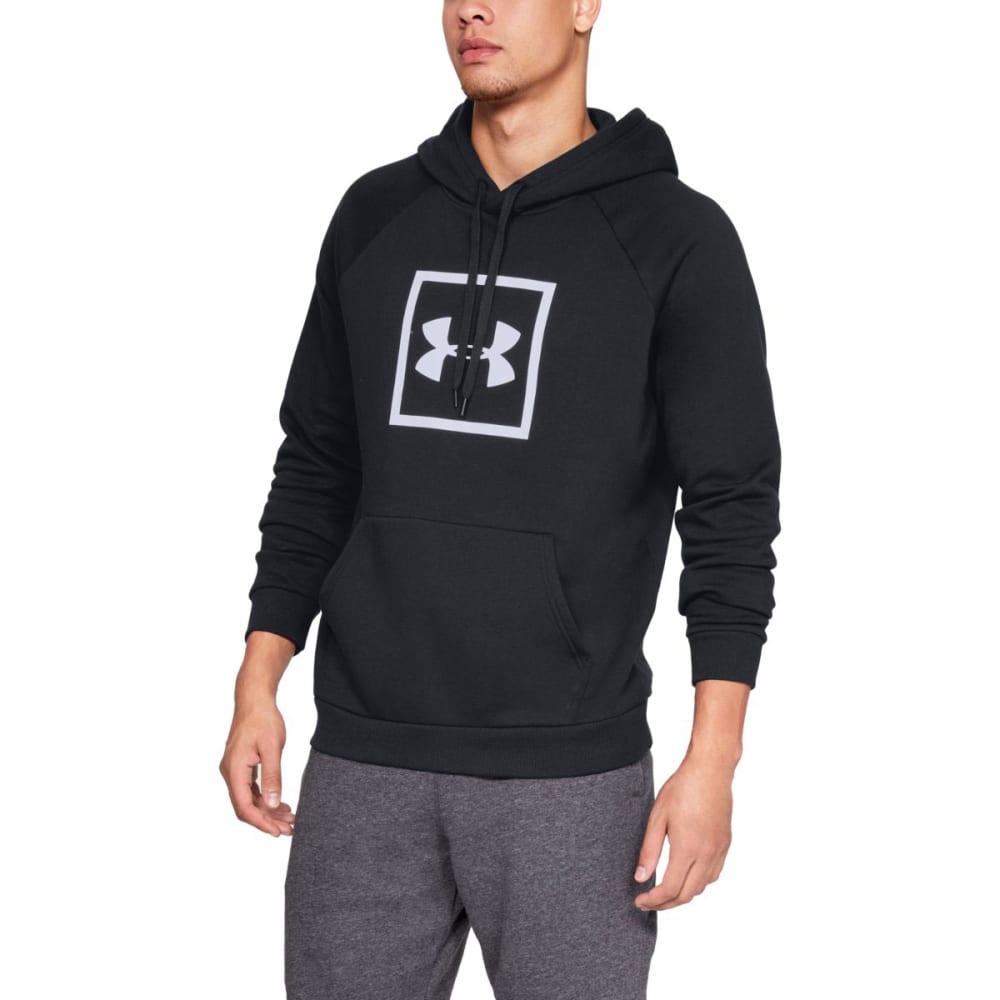 UNDER ARMOUR Men's UA Rival Fleece Pullover Hoodie - BLACK/WHT-001