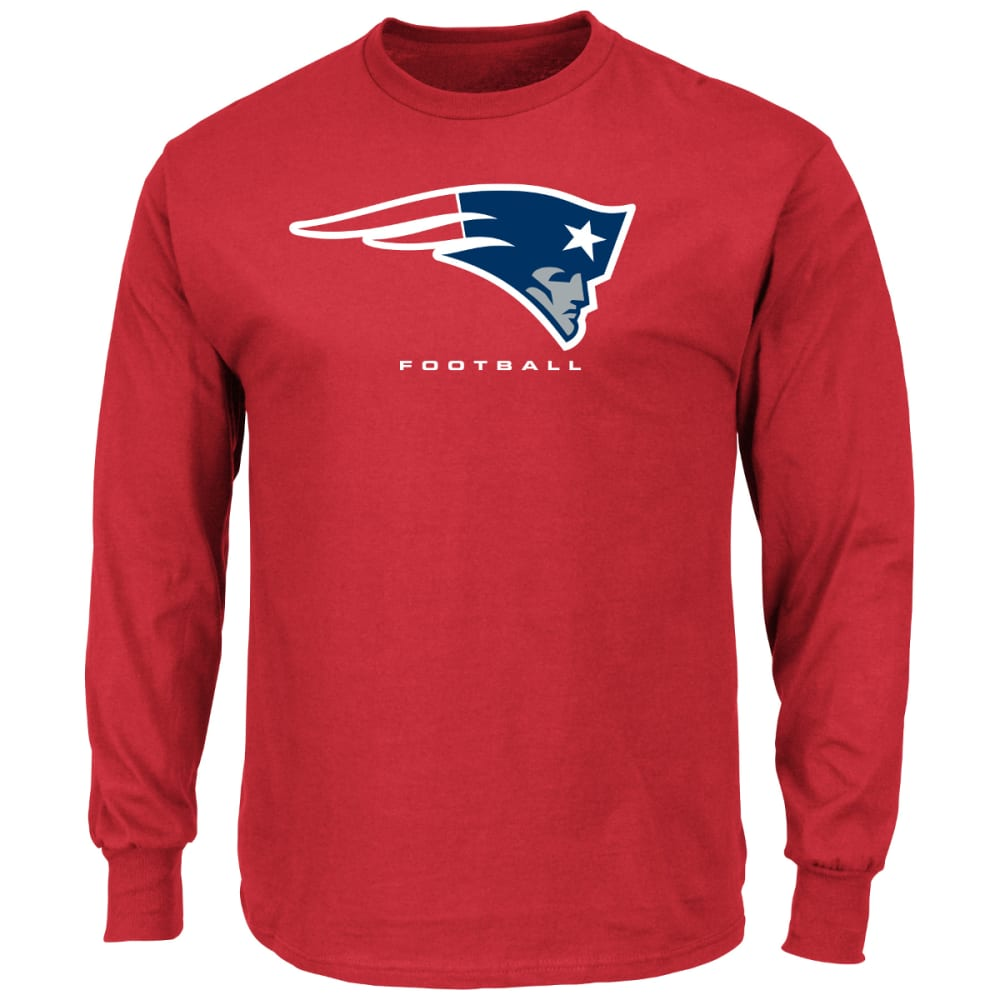 NEW ENGLAND PATRIOTS Men's Critical Victory III Long-Sleeve Tee - RED