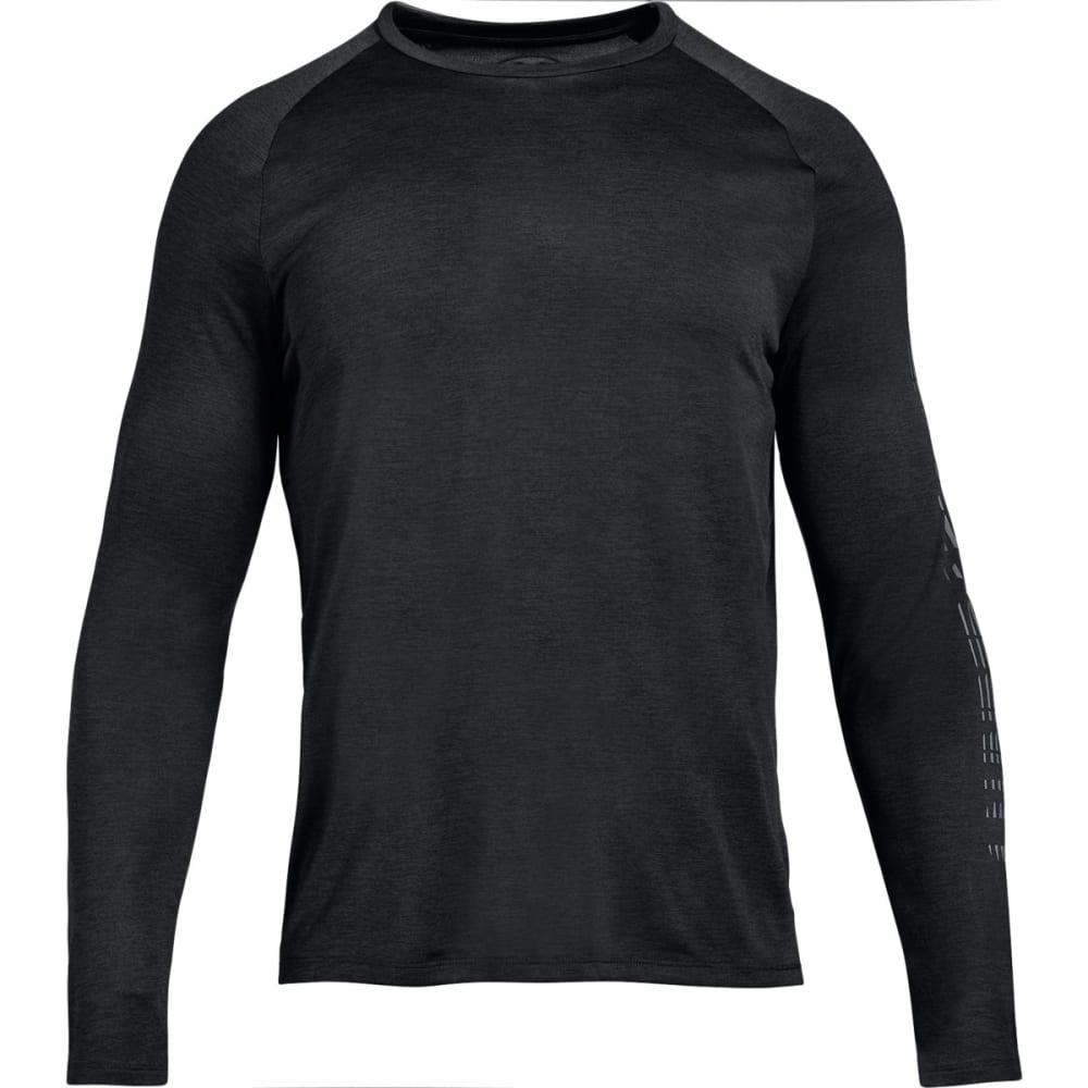 UNDER ARMOUR Men's UA Tech Twist Long-Sleeve Tee - BLK/STE-001