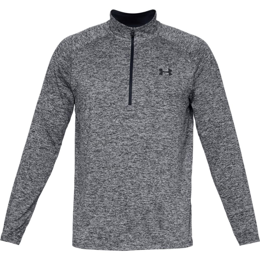 UNDER ARMOUR Mens UA Tech Half Zip Pullover - BLK/WTTWIST-002