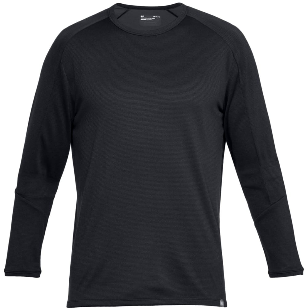 UNDER ARMOUR Men's UA Lighter Longer Crew Long-Sleeve Thermal Top - BLK/STEEL-001