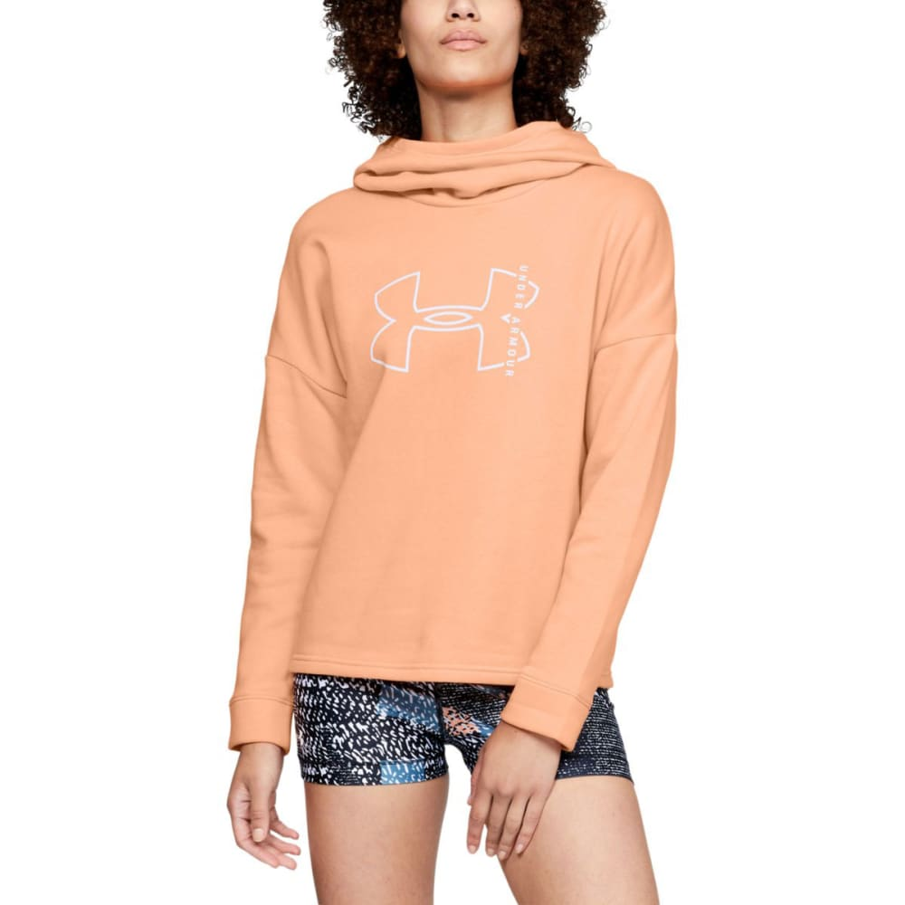 UNDER ARMOUR Women's UA Cotton Big Logo Pullover Hoodie S