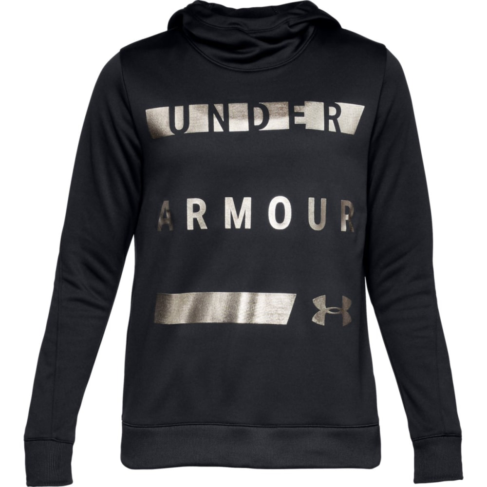 UNDER ARMOUR Women's Armour Fleece Pullover Hoodie - BLACK-001