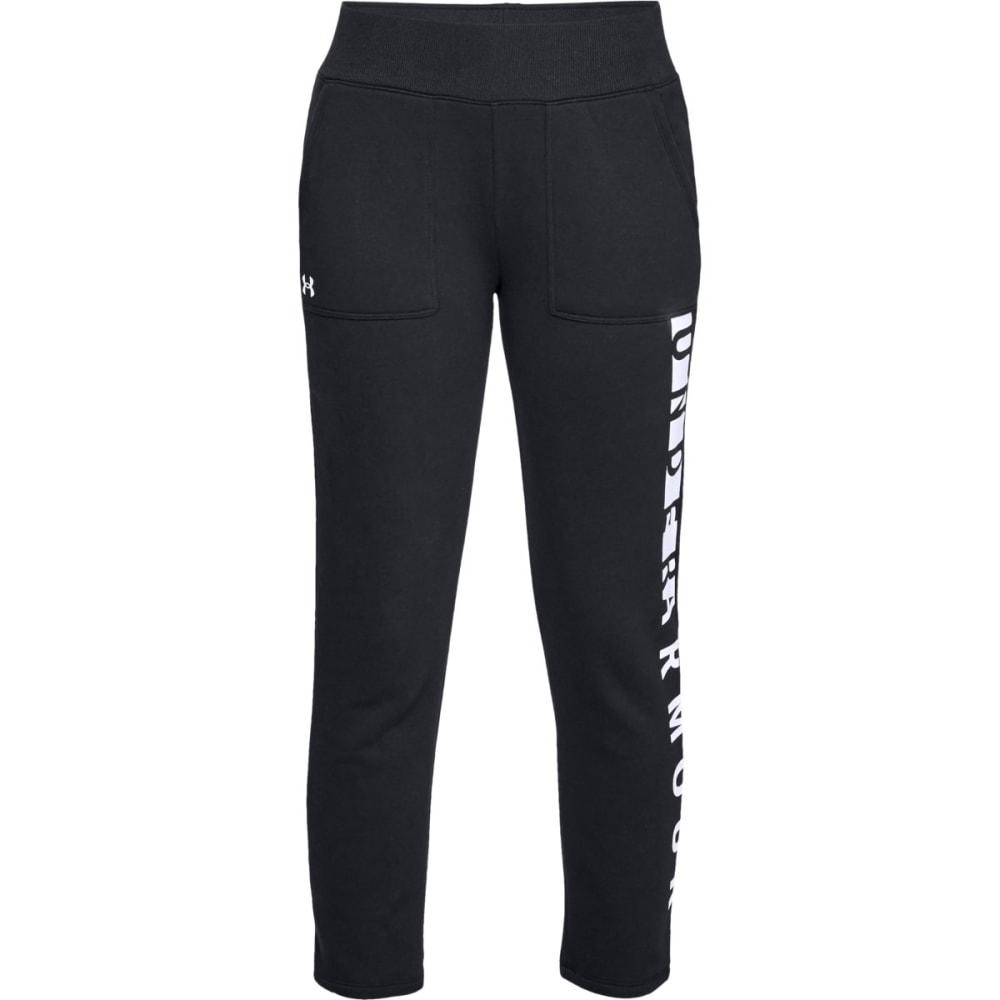 UNDER ARMOUR Women's UA Rival Fleece Pants - BLK/WHT-001