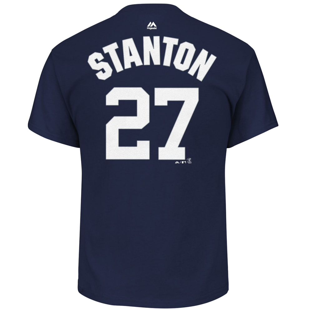 NEW YORK YANKEES Men's Giancarlo Stanton #27 Name and Number Short-Sleeve Tee - NAVY