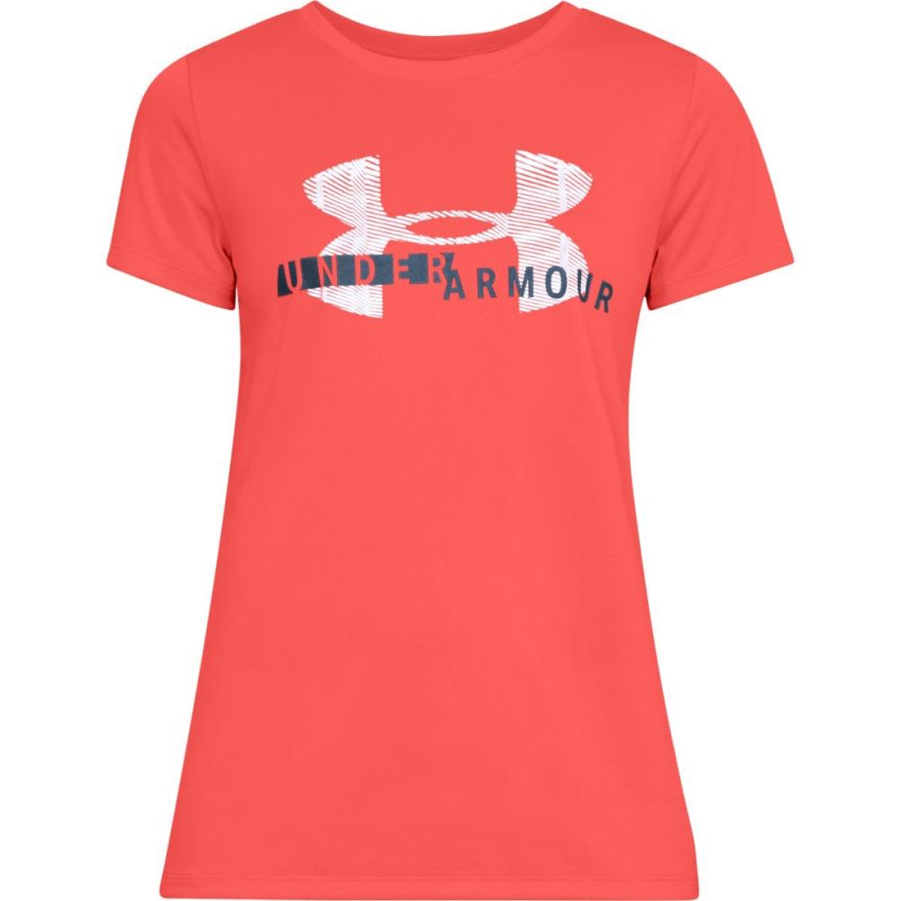 Under Armour Women's Ua Tech Graphic Short-Sleeve Tee - Orange, S