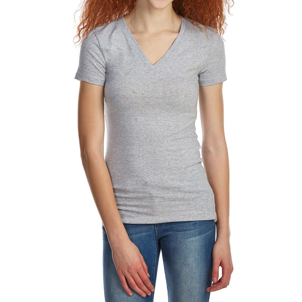 ZENANA Juniors' Basic V-Neck Short-Sleeve Tee S