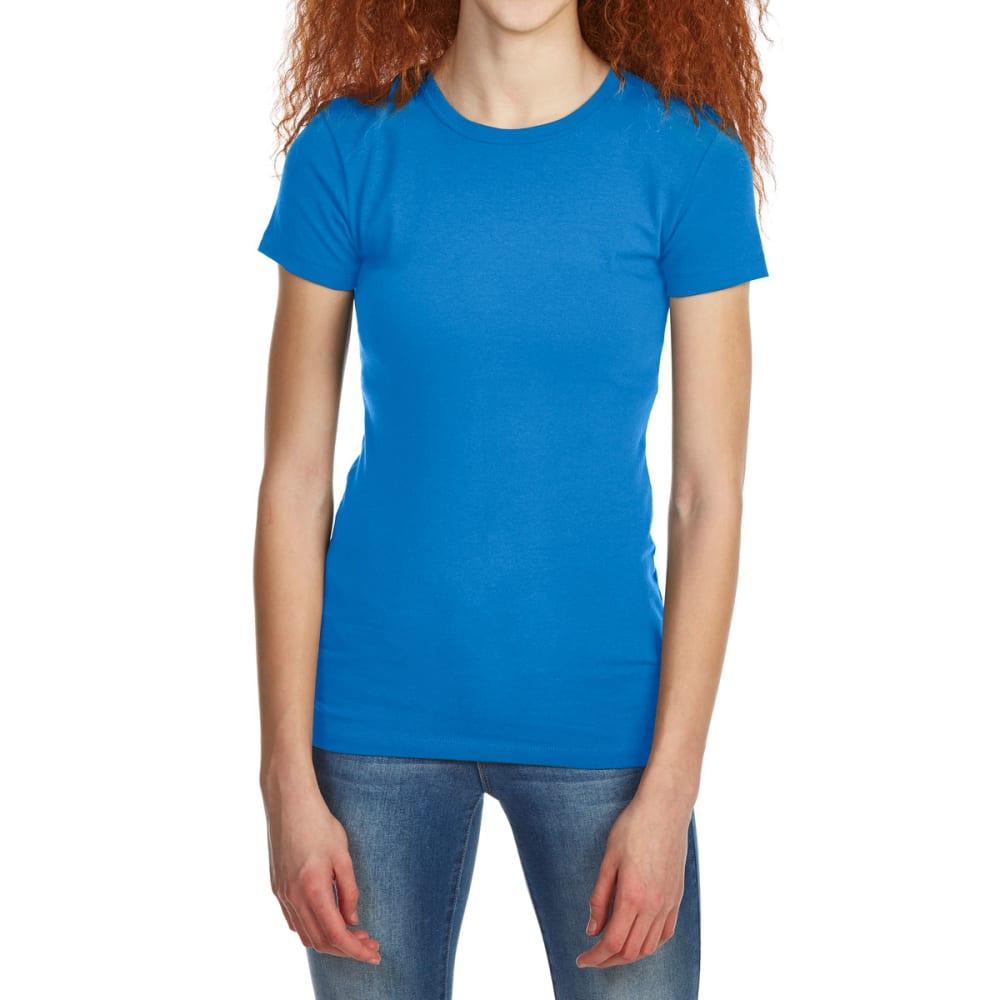 ZENANA Juniors' Basic Crewneck Short-Sleeve Tee S