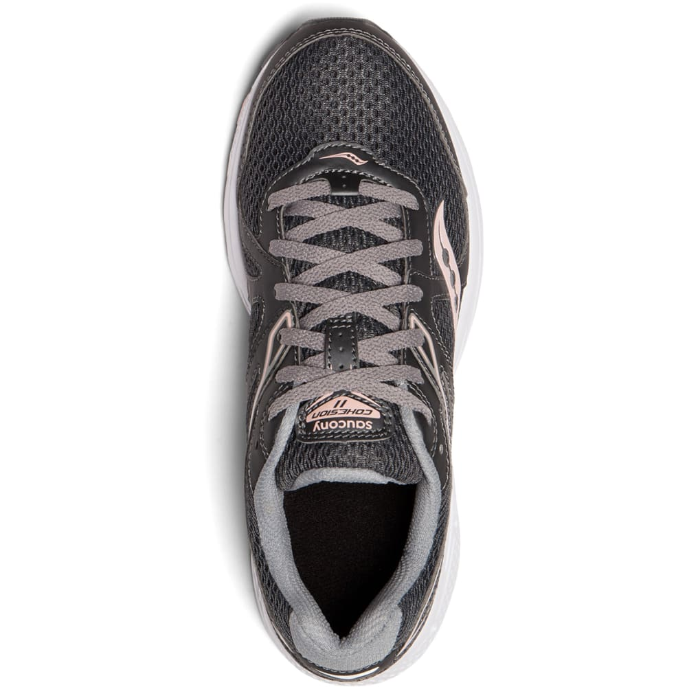 SAUCONY Women's Cohesion 11 Running Shoes - CHARCOAL-7