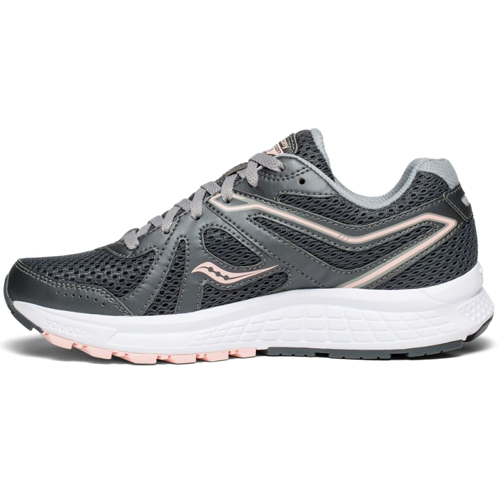SAUCONY Women's Cohesion 11 Running Shoes, Wide - CHARCOAL-7