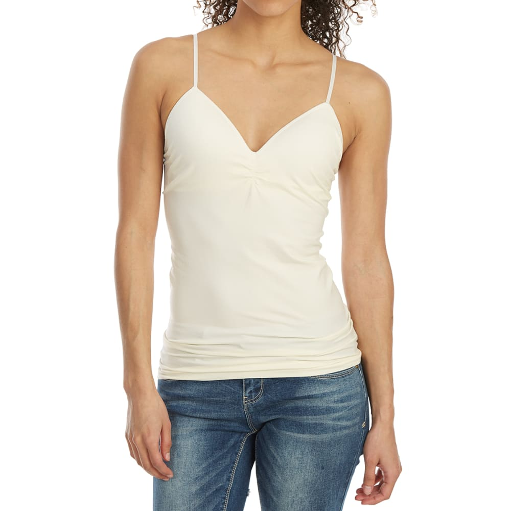 POOF Juniors' Seamless Soft Cup Cami - EGGWHITE