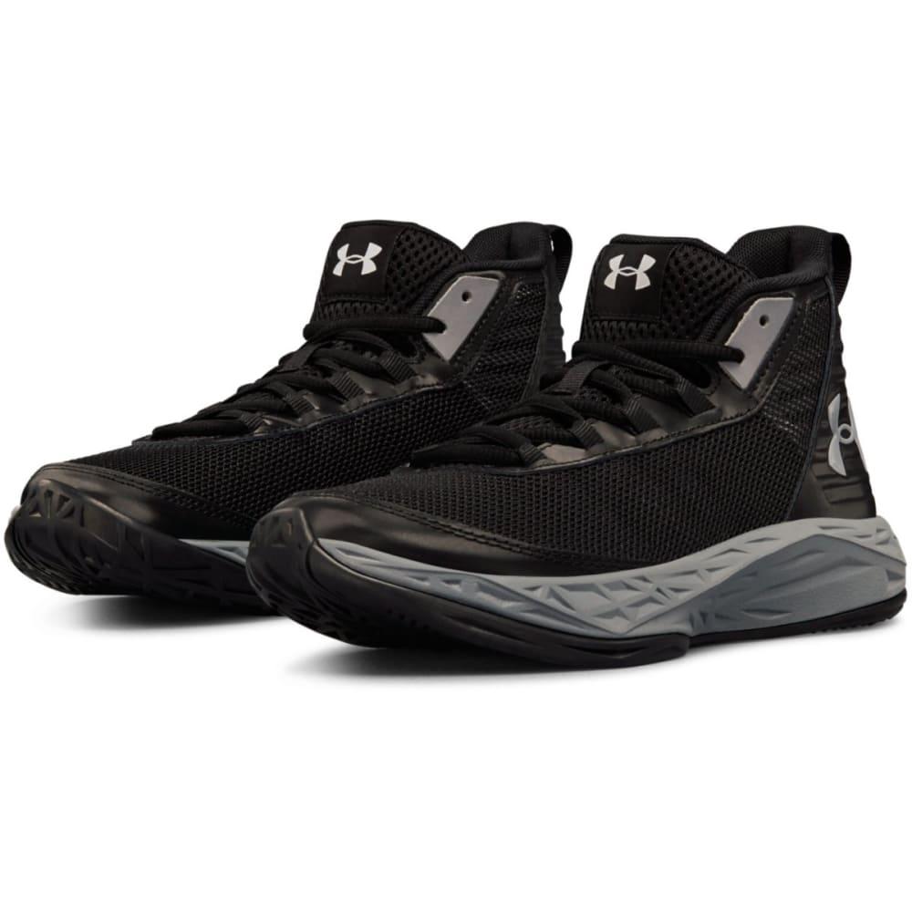 UNDER ARMOUR Big Boys' Grade School Jet 2018 Mid Basketball Shoes - BLK-002