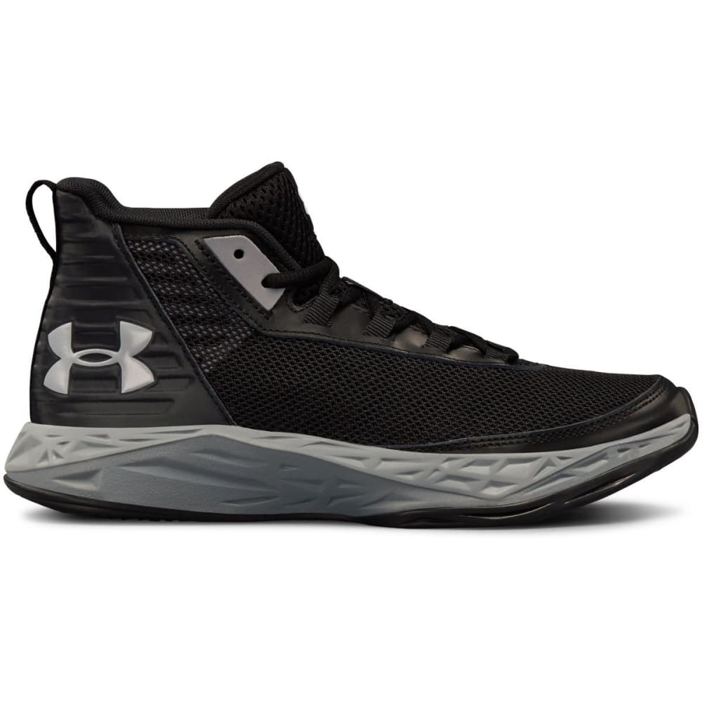 Under Armour Big Boys' Grade School Jet 2018 Mid Basketball Shoes - Black, 3.5