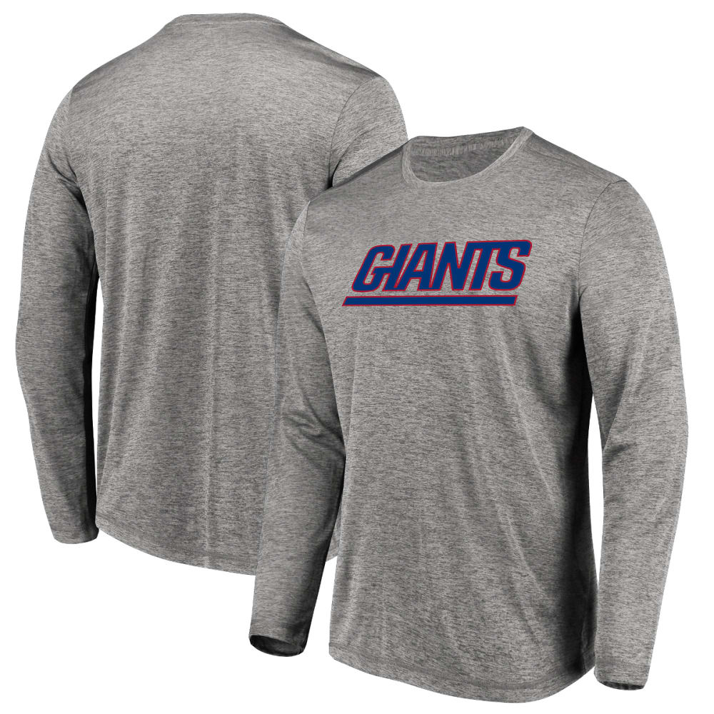 NEW YORK GIANTS Men's Touchback Long-Sleeve Tee - GREY