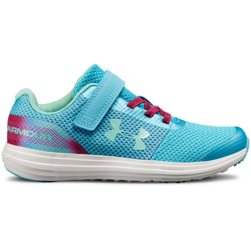 UNDER ARMOUR Little Girls' Preschool UA Surge Sneakers - VENETIAN BLUE - 300