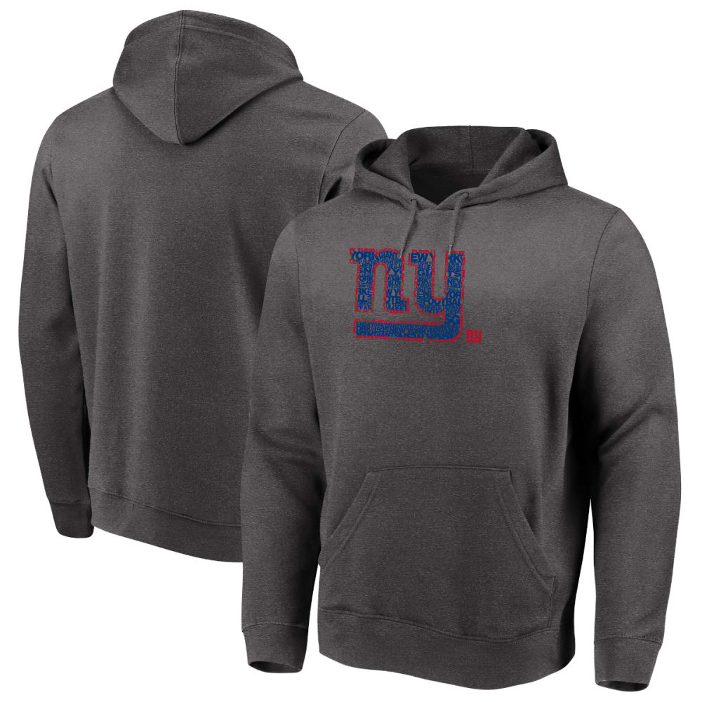 NEW YORK GIANTS Men's Line of Scrimmage Pullover Hoodie - CHARCOAL
