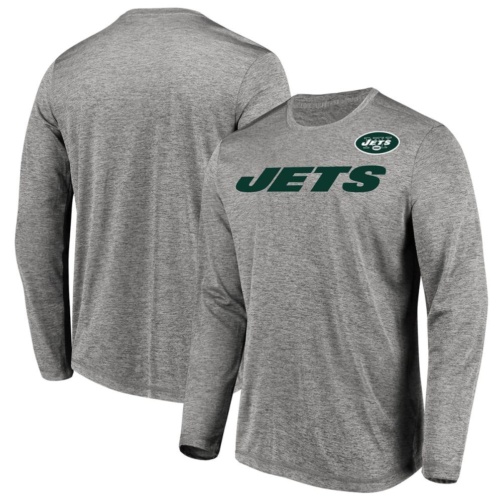 NEW YORK JETS Men's Touchback Long-Sleeve Tee - GREY