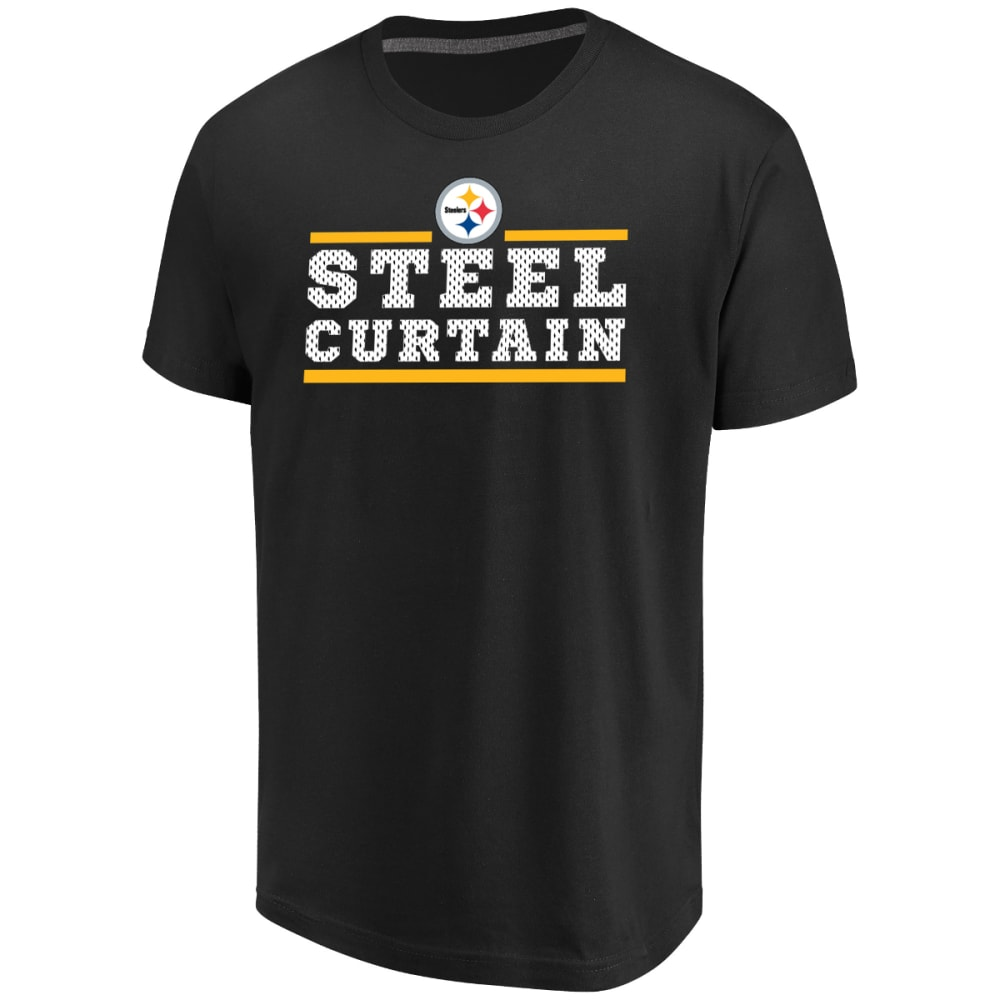 PITTSBURGH STEELERS Men's Safety Blitz Steel Curtain Short-Sleeve Tee - BLACK