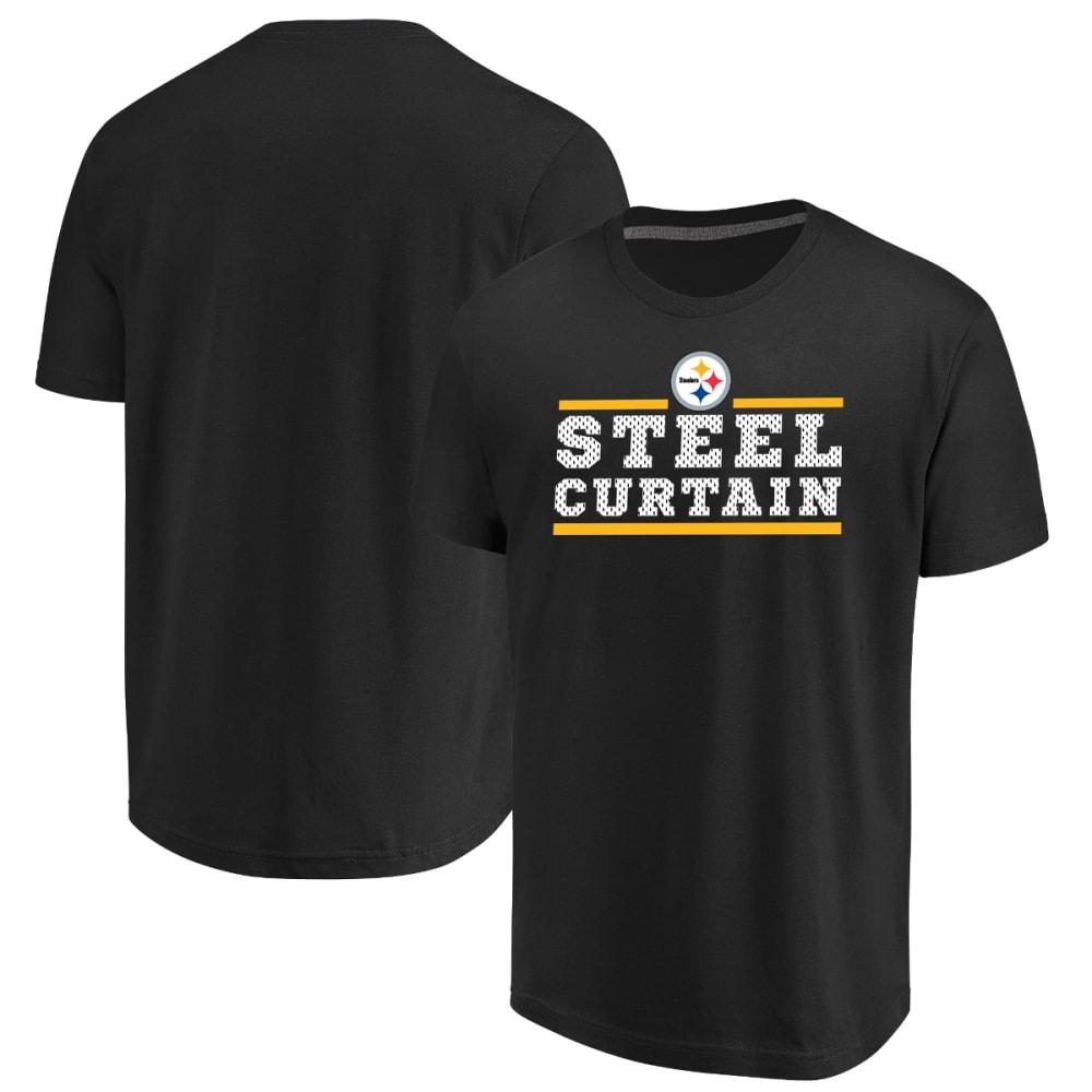PITTSBURGH STEELERS Men's Safety Blitz Steel Curtain Short-Sleeve Tee - BLACK