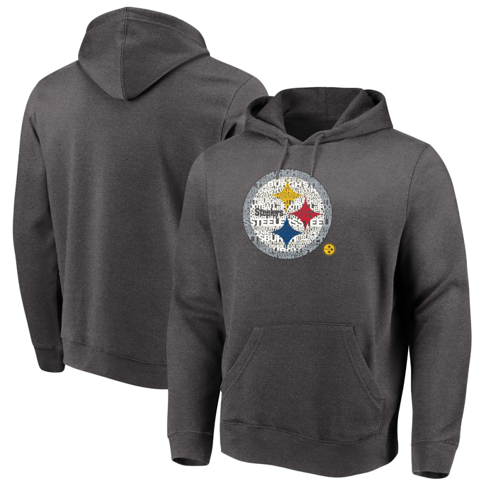 PITTSBURGH STEELERS Men's Line of Scrimmage Pullover Hoodie - CHARCOAL