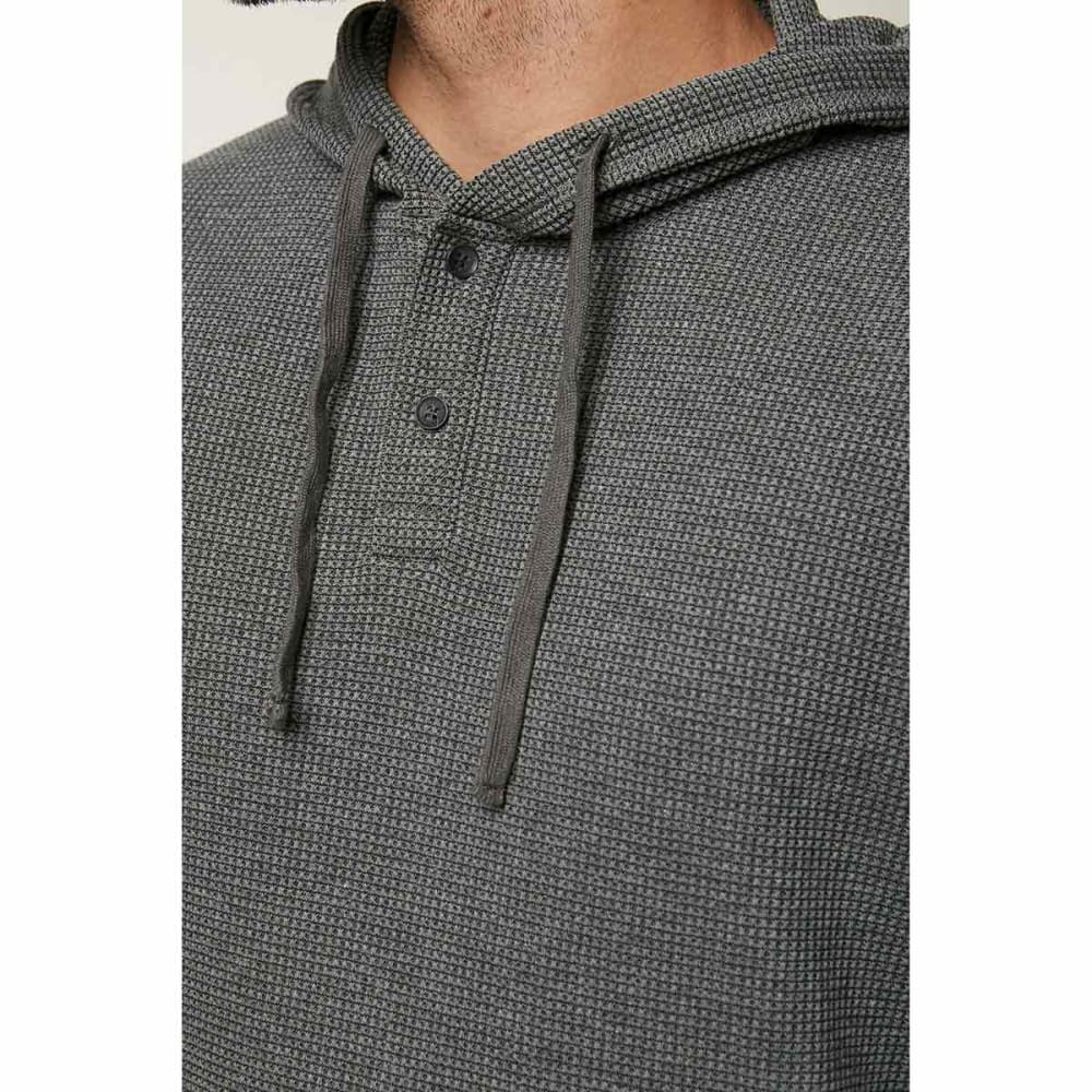 O'NEILL Guys' Olympia Henley Hooded Pullover - HEATHER GREY-HGR