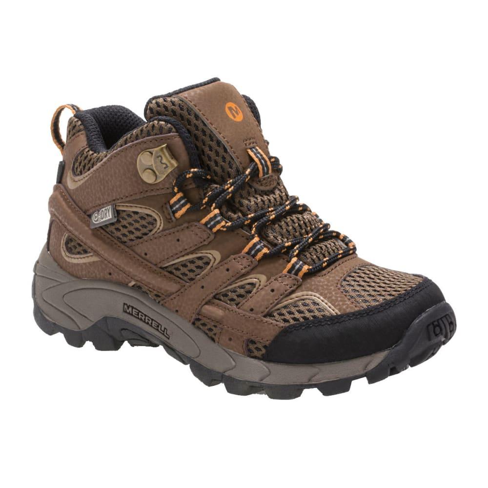Merrell Big Kids' Moab 2 Mid A/c Waterproof Boots - Brown, 4