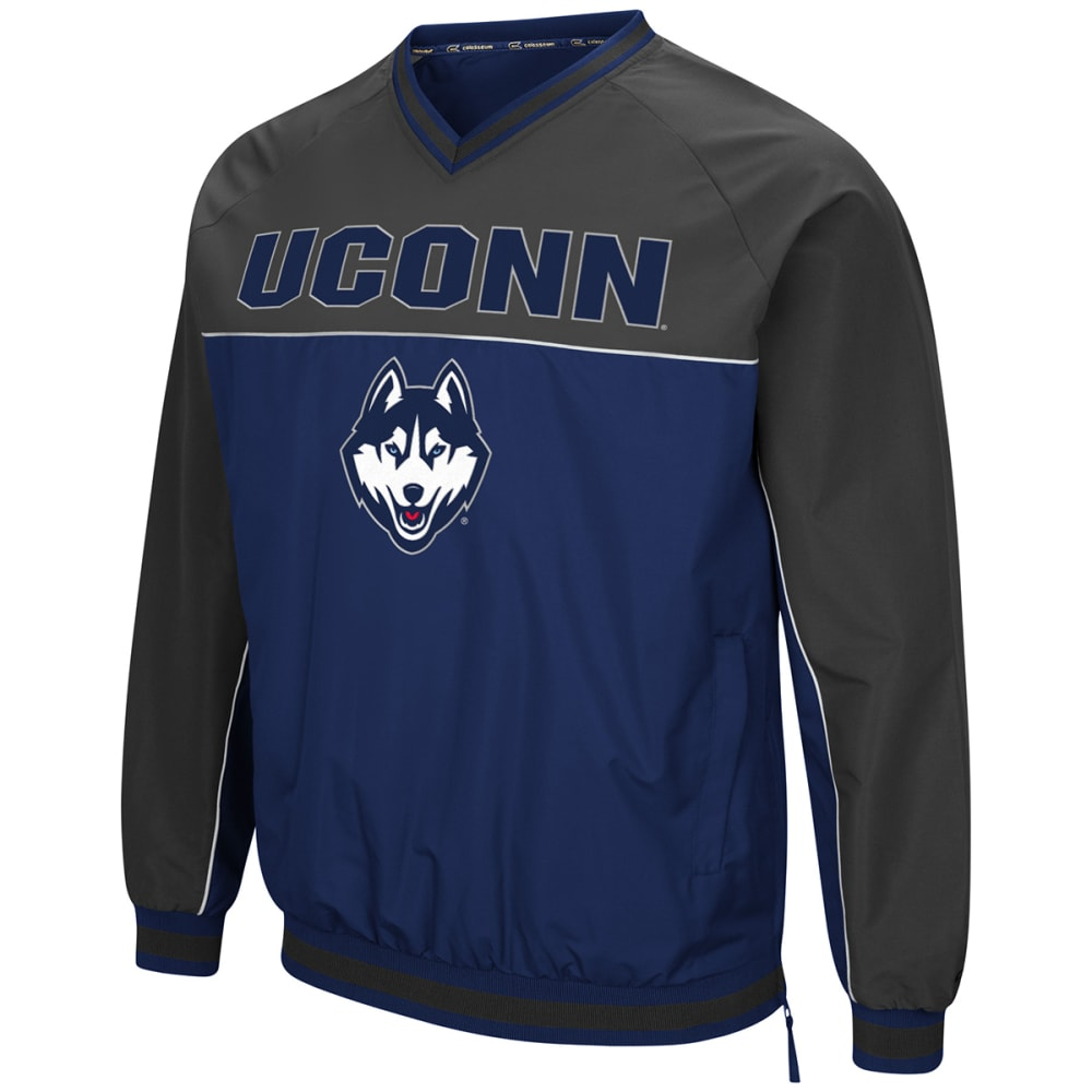 Uconn Guys' Coach Klein Pullover Windbreaker - Blue, M