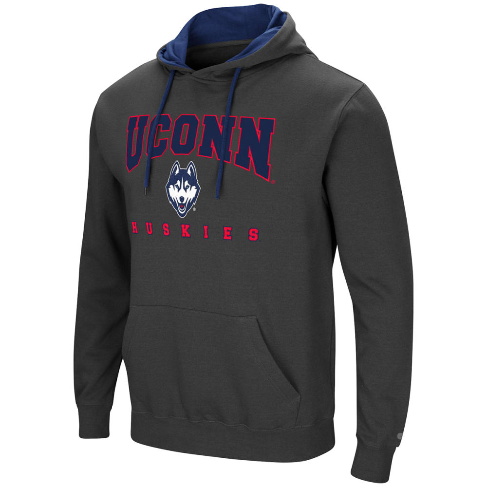 UCONN Men's Playbook Pullover Hoodie - CHARCOAL