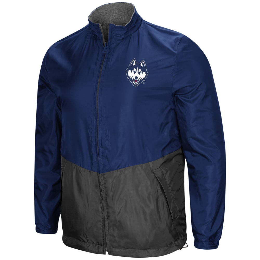 UCONN Men's Halfback Option Reversible Full-Zip Jacket L