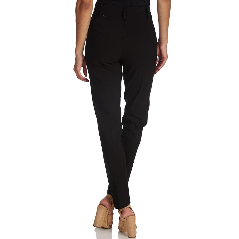 BCC Women's Millennium Zip-Front Pants - BLACK