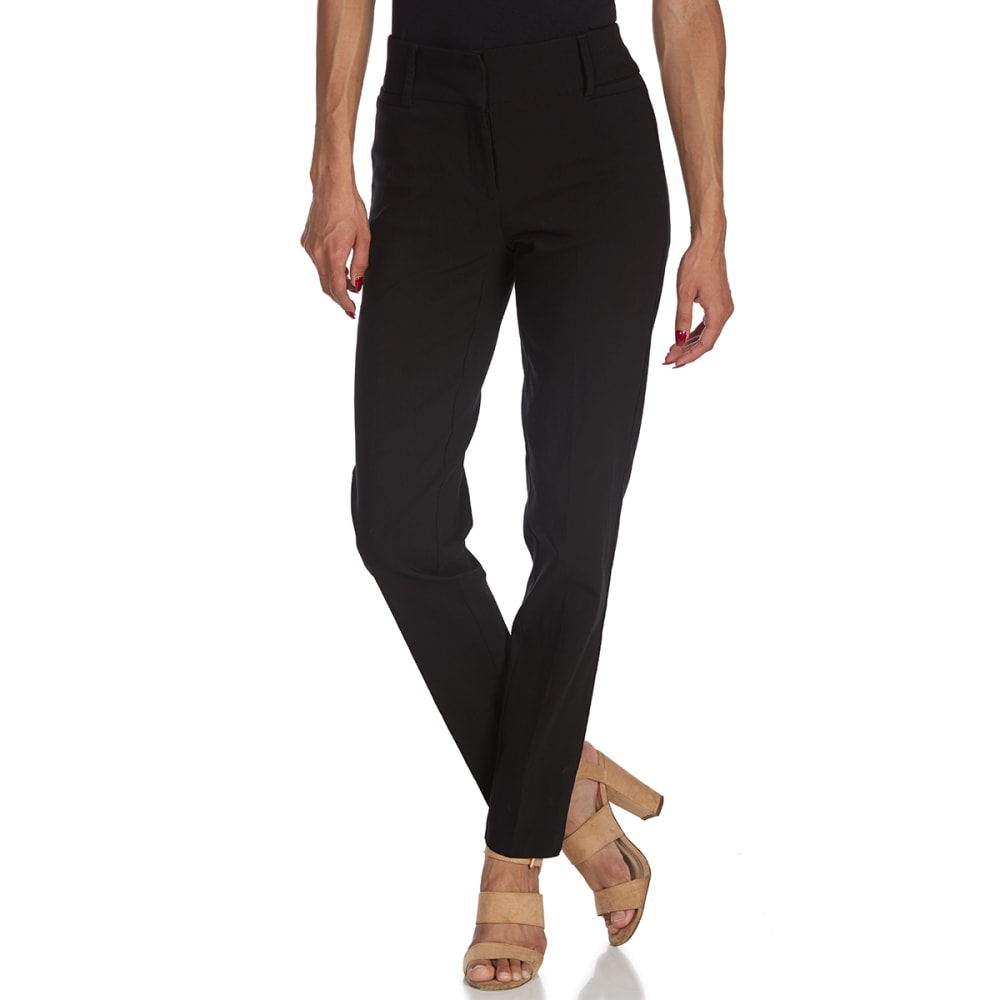 BCC Women's Millennium Zip-Front Pants - BLACK