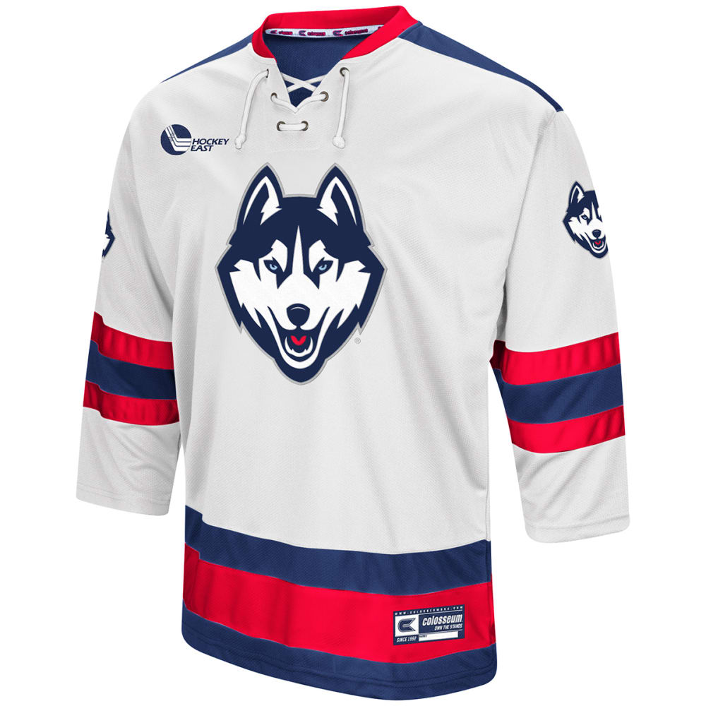UCONN Men's Athletic Machine Hockey Sweater - WHITE