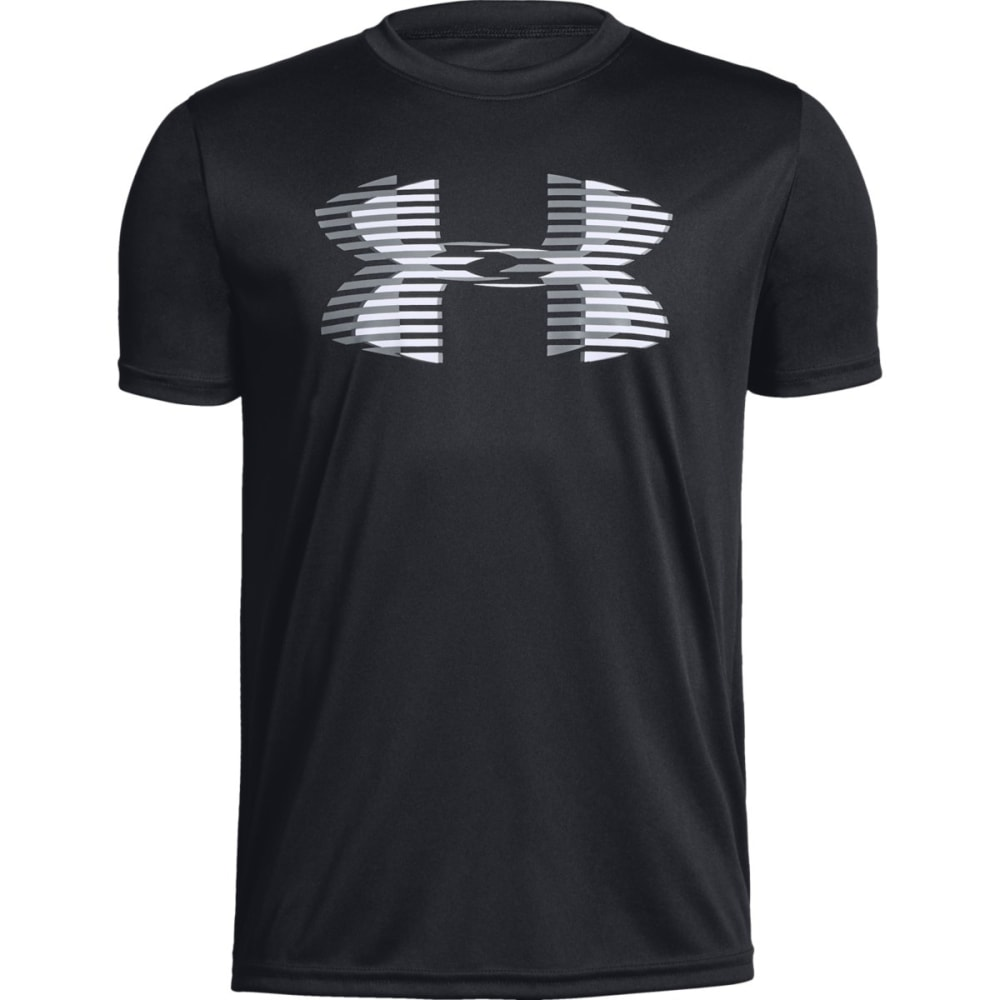 UNDER ARMOUR Big Boys' UA Tech Big Logo Solid Short-Sleeve Tee - BLACK/WHITE-001