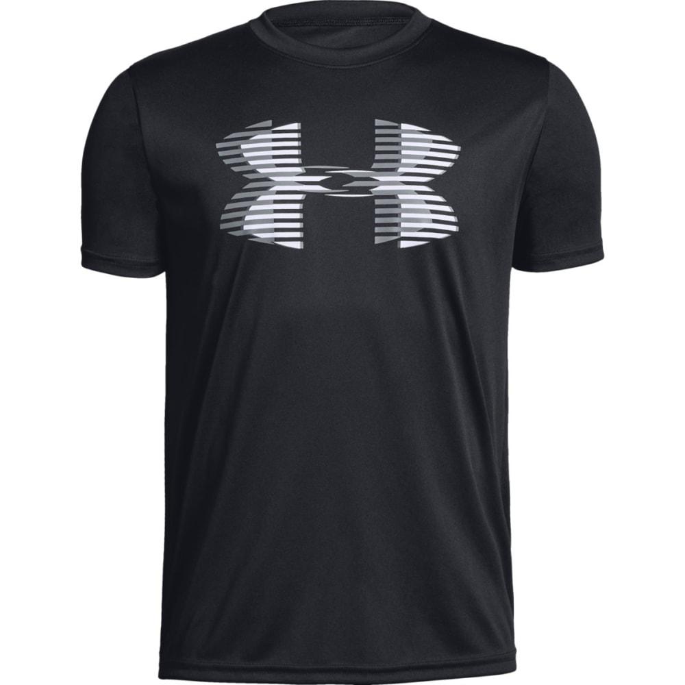 UNDER ARMOUR Big Boys' UA Tech Big Logo Solid Short-Sleeve Tee - BLACK/WHITE-001