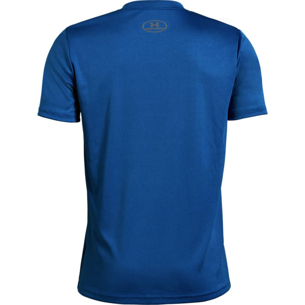 UNDER ARMOUR Big Boys' UA Tech Big Logo Solid Short-Sleeve Tee - ROYAL/BLACK-400